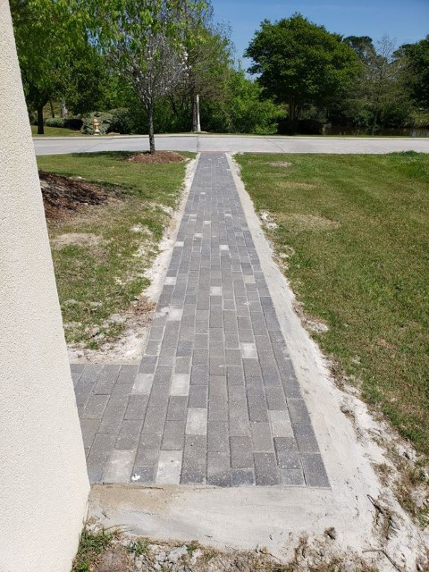 Golf Course Walkway Pavers Installed In Hammond La